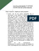 79527606 CAUSAS y CONSECUENCIAS de La Revolucion Mexicana