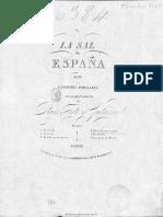 Polo del contrabandista nuevamente arreglado con acompañamiento de piano forte y guitarra por D. Francisco Baltar (1876)