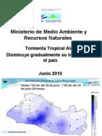 Registros históricos de lluvia en El Salvador