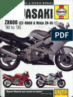 Kawasaki ZZ-R600 & Ninja ZX-6 (ZX600-D1-4(E1-8)) 1990-2000 RUS