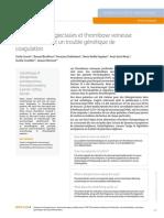 Sclérose de télangiectasies et thrombose veineuse profonde révélant un trouble génétique de coagulation