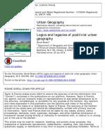001 - Logics and Legacies of Positivist Urban Geography