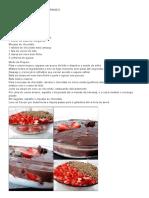 Torta Gelada de Bis Com Morango