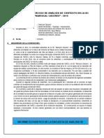 INFORME ANALISIS DE CONTEXTO DE LA I.E.I. MARISCAL CÁCERES 2015