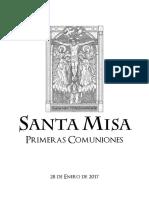 Misa Primera Comunión