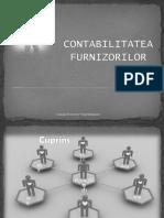 CONTABILITATEA FURNIZORILOR