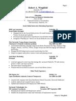 Chronological Marketing Resume Extended