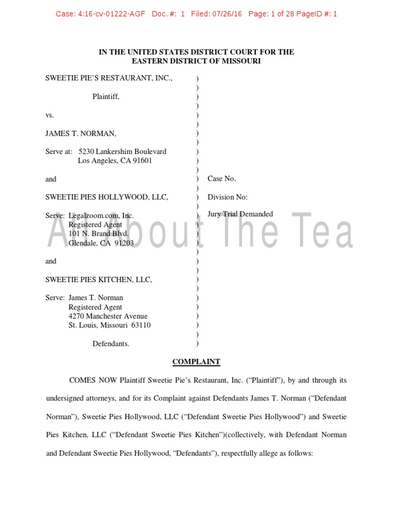 Welcome to Sweetie Pie\'s\' Miss Robbie Suing Son Tim Norman Court ...