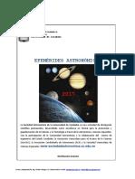 Efemérides astronómicas 2017