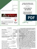 Programa Concierto de Reyes 2017 Banda Ies Orden de Stgo