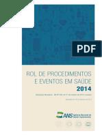 ProdEditorialANS Rol de Procedimentos e Eventos Em Saude 2014