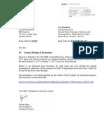 Investor Meetings & Presentation [Company Update]