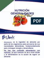 Generalidades de La Nutrición