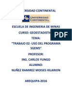 Trabajo 02_programa Sgems_moises Nuñez