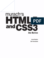 Murach's HTML5 and CSS3 3rd Edition (2015)