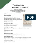 Program of the Second International Guaman Poma Colloquium