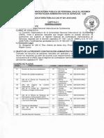 Bases Convocatoria Publica Personal Bajo Regimen Especial CAS