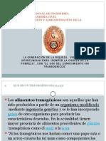 """LA GENERACIÓN DE LA RIQUEZA,  VIENDO UNA OPORTUNIDAD PARA """"ROMPER LA CORAZA DE LA POBREZA"""", CON """"EL USO DEL CONOCIMIENTO sin transgenicos"""""""