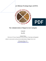 The Administration of Egypt in Late Antiquity