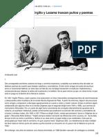 Piñazos y zalemas Virgilio y Lezama truecan puños y poemas