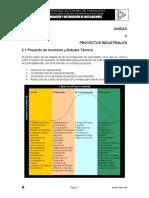 Unidad 2 PDI - Proyectos Industriales