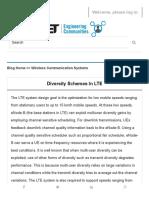 Diversity Schemes in LTE - IET Engineering Communities
