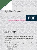 High Risk Pregnancies