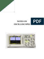 Notes on Oscilloscopes