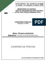 Técnico Judiciário-Enfermagem Hospital Das Forças Armadas-Ministério Da Defesa