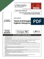Técnico Judiciário-Enfermagem-Prefeitura de Aracaju