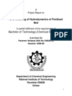 CFD Modeling of Hydrodynamics of Fluidized Bed