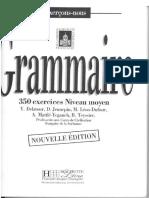 Grammaire Francaise 350 Exercises Niveau Moyen