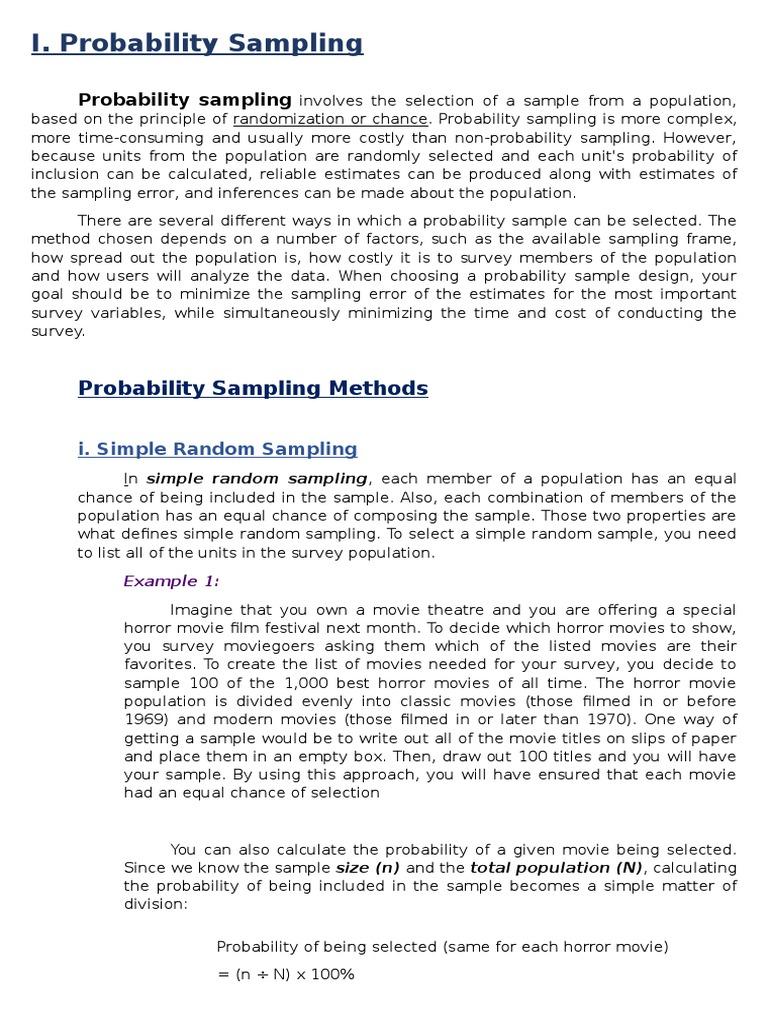 The Different Sampling Techniques Stratified Sampling Sampling
