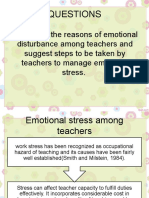 Emotional Stress Among Teachers