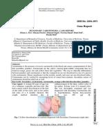 Secondary Carotenemia