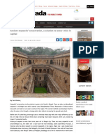 Ancient Stepwells' Conservation, A Solution to Water Crisis in Capital