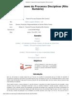 Módulo IX - Fases Do Processo Disciplinar (Rito Sumário)