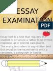 Essay Type of Test