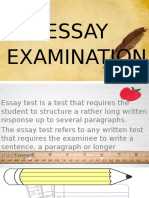 Essay Type of Test