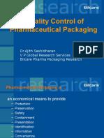 Pharma Packaging -Quality
