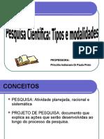 0000919_aula 4 Pesquisa Científica - Tipos e Modalidades