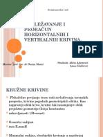Proračun vertikalnih i horizontalnih krivina