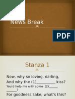 Stage 1 News Break Exercise