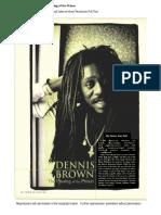 Dennis Brown Article
