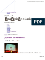 no- ¿Qué son las Webseries? | ENAWEBSERIADA