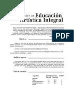 Información Especialización en Educación Artística Integral