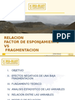 f.e vs Fragmentacion