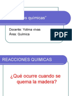 DIAPOSITIVAS REACCIONES QUIMICAS
