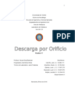 Informe Descarga Por Orficio