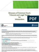Legal Glossary for Interpreters